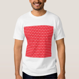 Red and White Polka Dot Pattern. Spotty. T-shirt