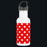 "Red and White Polka Dot Pattern Water Bottle<br><div class=""desc"">A background pattern of Red and White polka dots.</div>"