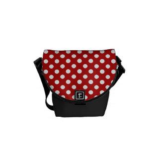 Red and White Polka-dot Rickshaw Messeger bag