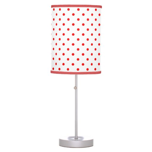 Salt Lamps Red Dot : Red and white polka dot table lamp Zazzle