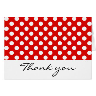 Red and White Polka Dot Thank You Notes