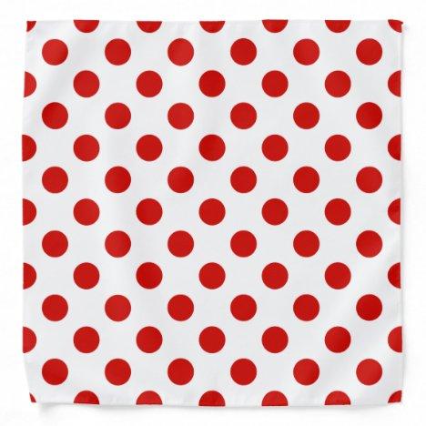 Red and white polka dots bandana