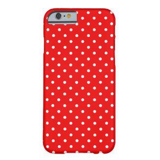 Red and White Polka Dots Barely There iPhone 6 Case