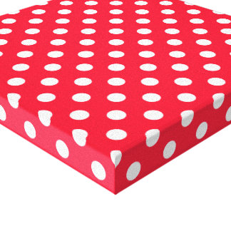 Red and White Polka Dots Canvas Print