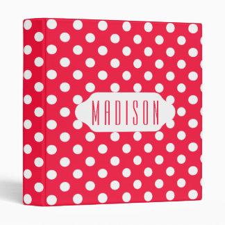 Red and white polka dots custom binder