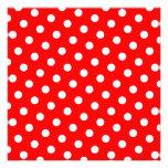 Red and White Polka Dots Custom Invitations