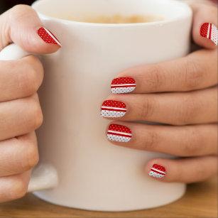 Red And White Polka Dot Nail Art Nail Wraps Zazzle