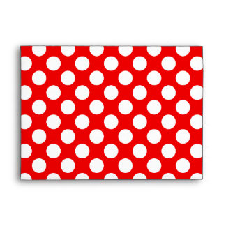 Red and White Polka Dots Envelope
