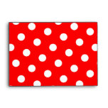 Red and White Polka Dots Envelopes