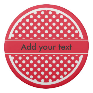 Red and White Polka Dots Eraser