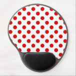 "Red and white polka dots gel mouse pad<br><div class=""desc"">Red and white polka dots</div>"