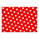 Red and White Polka Dots Greeting Card