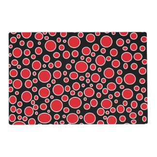 Red and White Polka Dots Laminated Placemat