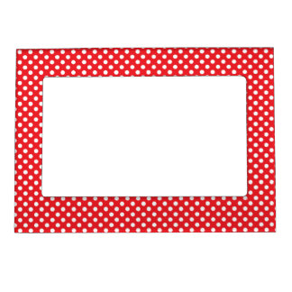 Red and White Polka Dots Magnetic Frame