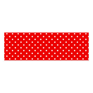 Red and White Polka Dots Mini Business Card