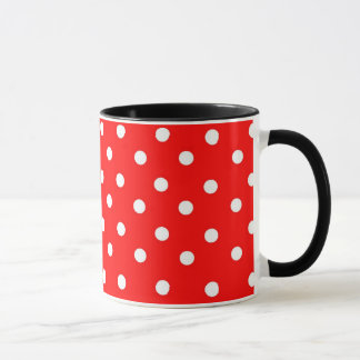 RED AND WHITE POLKA DOTS MUG