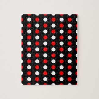 Red and white polka dots pattern jigsaw puzzle