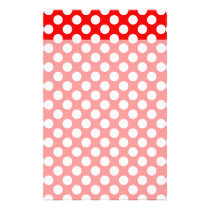 Red and White Polka Dots Stationery