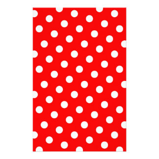 Red and White Polka Dots Stationery Design