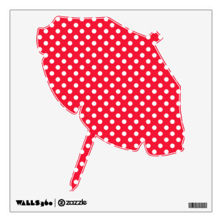 Red and White Polka Dots Wall Sticker