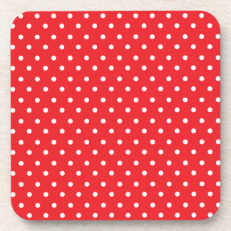 Red and White Polkadot Coasters