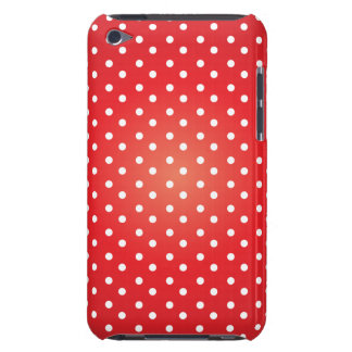 Red and White Polkadot Heaven Barely There iPod Case