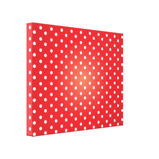 Red and White Polkadot Heaven Canvas Print