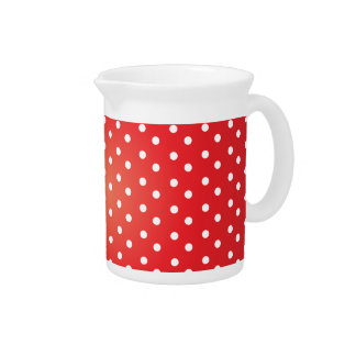 Red and White Polkadot Heaven Drink Pitcher