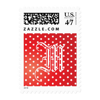 Red and White Polkadot Heaven Postage