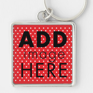 Red and White Polkadot Keychain