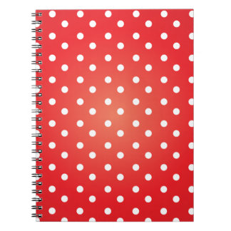 Red and White Polkadot Notebook