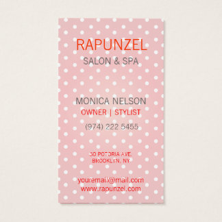 Red and White Polkadot pattern Business Card