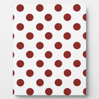 Red and White Polkadots Plaque