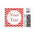 Red and White Postage Stamp w/ Custom Text Postage