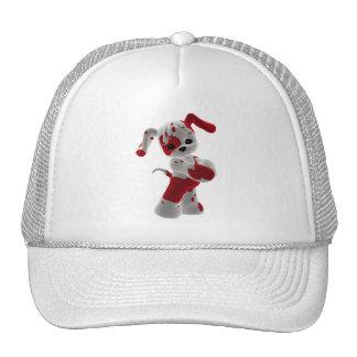 Red and White Puppy Trucker Hat