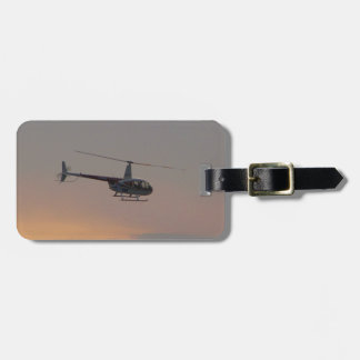 Red and white R44 at sunset. Tag For Bags