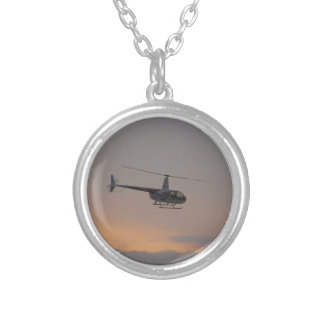Red and white R44 at sunset. Personalised Necklace