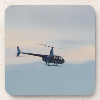Red and White R44 Helicopter Drink Coaster