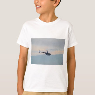 Red and White R44 Helicopter T-Shirt