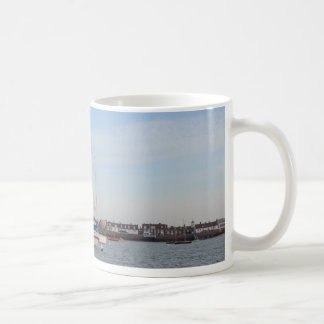 Red And white Racing Yacht Coffee Mug