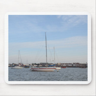 Red And white Racing Yacht Mousepad