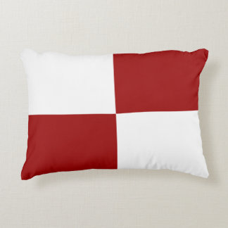 Red and White Rectangles Accent Pillow