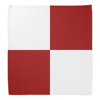 Red and White Rectangles Bandana