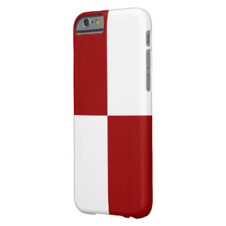 Red and White Rectangles Barely There iPhone 6 Case