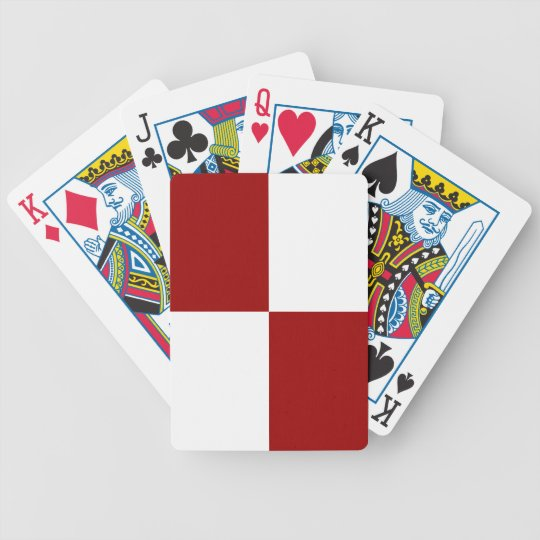 Red and White Rectangles Bicycle Playing Cards