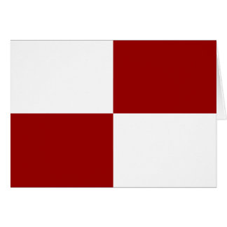 Red and White Rectangles Birthday Card
