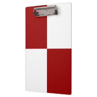 Red and White Rectangles Clipboard