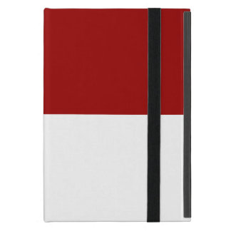 Red and White Rectangles Cover For iPad Mini