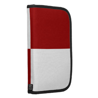 Red and White Rectangles Folio Planner