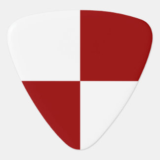 Red and White Rectangles Guitar Pick